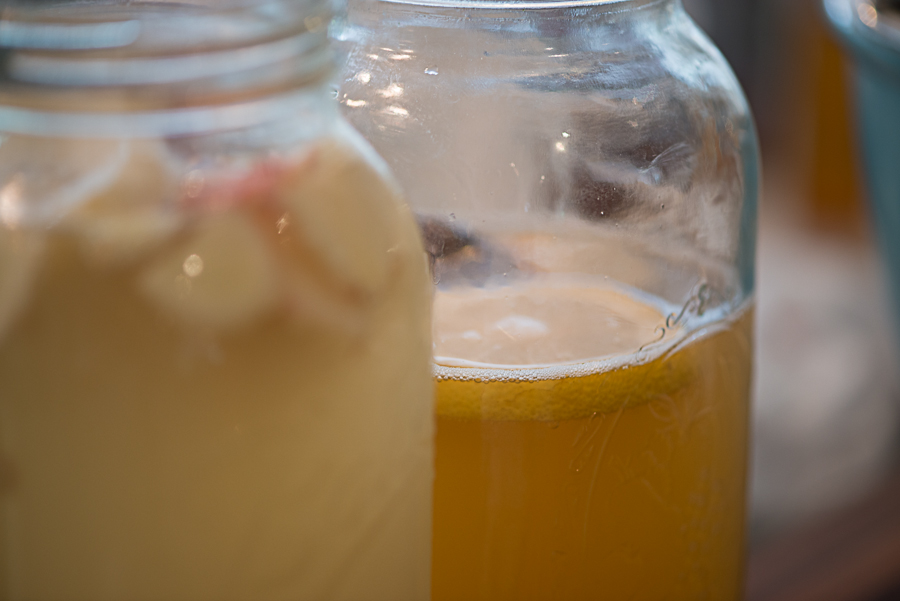 Water kefir in the making